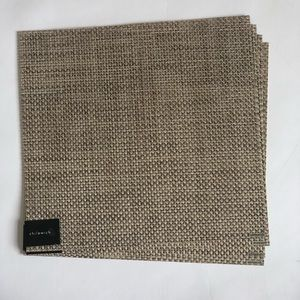 CHILEWICH BASKETWEAVE PLACEMATS. S/4. LATTE. NEW